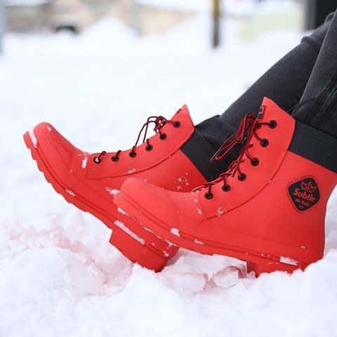 """香港潮牌Subtle Mr.RainX1 防水馬丁雨靴- Rain Boot -Red猩紅色 作個""""雨"""" 與眾不同的自己"""