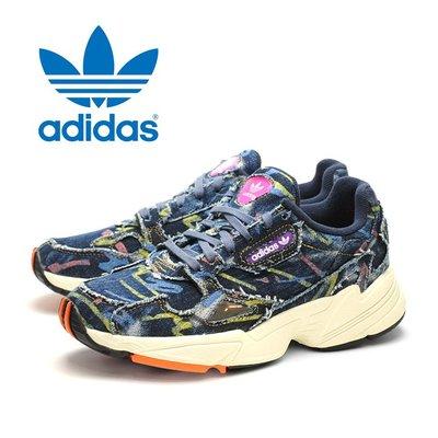 快閃五折FOCA ☆ Adidas Originals Falcon cg6249 老爹鞋 花花  藍牛仔 老人鞋 女鞋