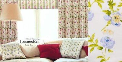 【LondonEYE】甜美鄉村風 進口優質純棉印花窗簾布(CTF120-8)‧粉嫩小碎花‧英式甜美首選