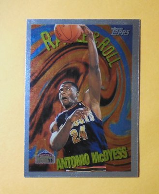 1995-96 Topps Rattle & Roll R6 Antonio McDyess