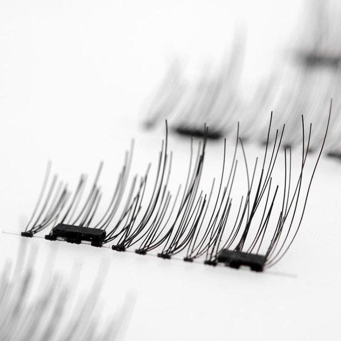 ☜男神閣☞雙磁鐵假睫毛 磁鐵睫毛雙磁款 磁性免膠水防過敏自然逼真磁吸3D