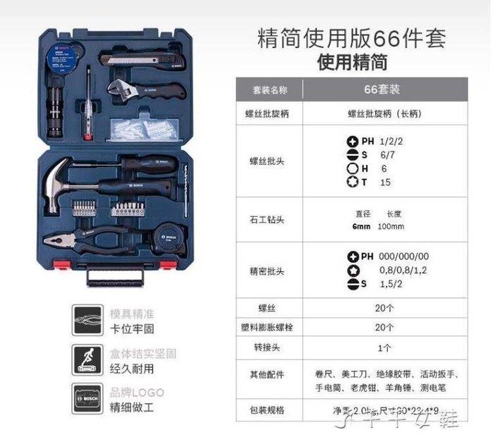 家用多功能五金工具箱套裝12件/66件/108件鋼絲鉗螺絲刀 igo