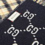【WEEKEND】 GUCCI GG Wool Checked 格紋 雙面 羊毛 圍巾 深藍色 20春夏 597527