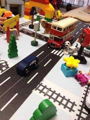 親子創意趣味汽車馬路膠帶道路 公路膠帶 辦家家 DIY 公路貼紙組合