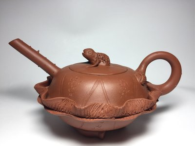 紫砂壺~荷葉青蛙/蔣蓉/清水泥