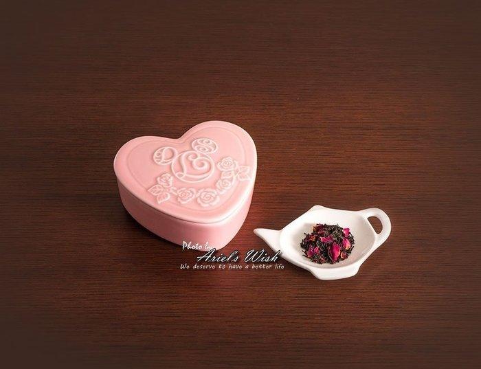 Ariel Wish日本東京Disney迪士尼情人節禮物情侶浪漫粉紅色愛心瓷器組白葡萄香味紅茶禮盒收納盒附專屬紙袋-現貨