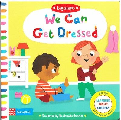 *小貝比的家*BIG STEPS:WE CAN GET DRESSED/硬頁書/2-3歲幼幼班/自主管理