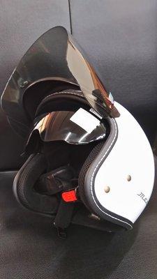 光陽原廠 MANY 半罩式 安全帽  附墨鏡及風鏡