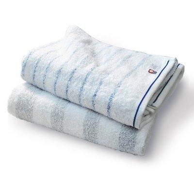 現貨(優惠開跑!)拉薩夫人◎日本代購 今治認證的毛巾 漸層線條款 速乾款式B(BATH TOWEL)2條組 共4色可搭