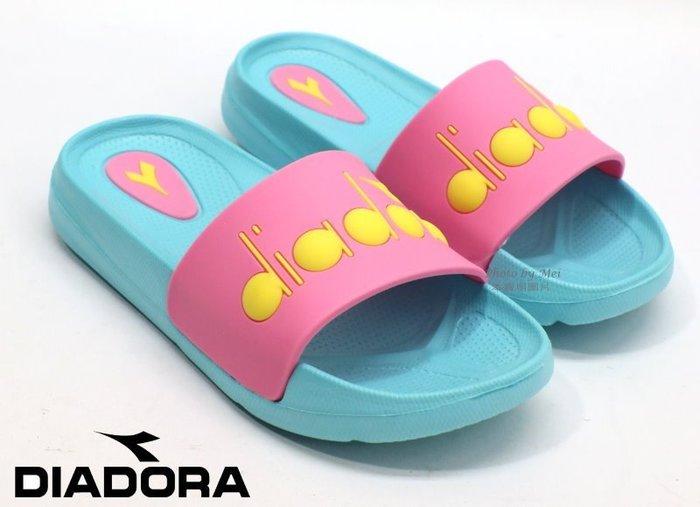 DIADORA 兒童運動休閒拖鞋 ( DA9AKS7562  桃)