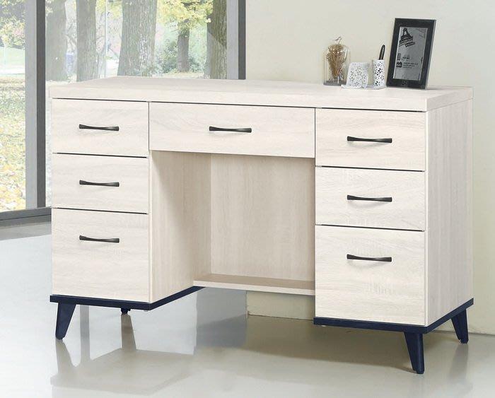 【浪漫滿屋家具】(Gp)558-7 鋼刷白4尺書桌