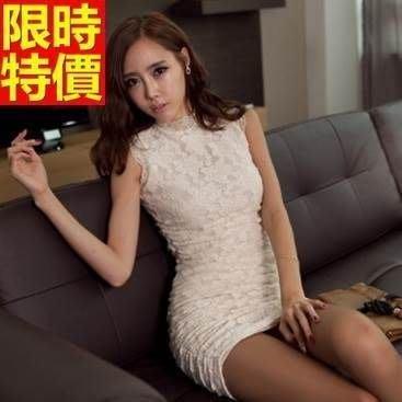 小洋裝 夜店裝 連身裙(零碼賠售出清、恕不退換)-無袖性感緊身蕾絲包臀連衣裙66q8[獨家進口][米蘭精品]