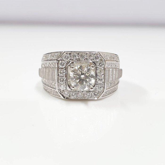 GIA鑽石 全新品豪華大方戒台 3EX 8心8箭 主石1.01克拉 585K金鑽台 配鑽約1.6 大眾當舖 編號5915