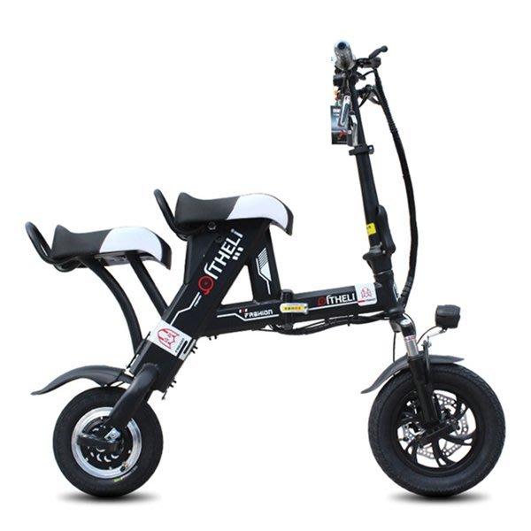 5Cgo【批發】含稅會員有優惠 555686028648 電瓶車可折疊電動滑板車代步電動自行車電動車48V-雙座50公里