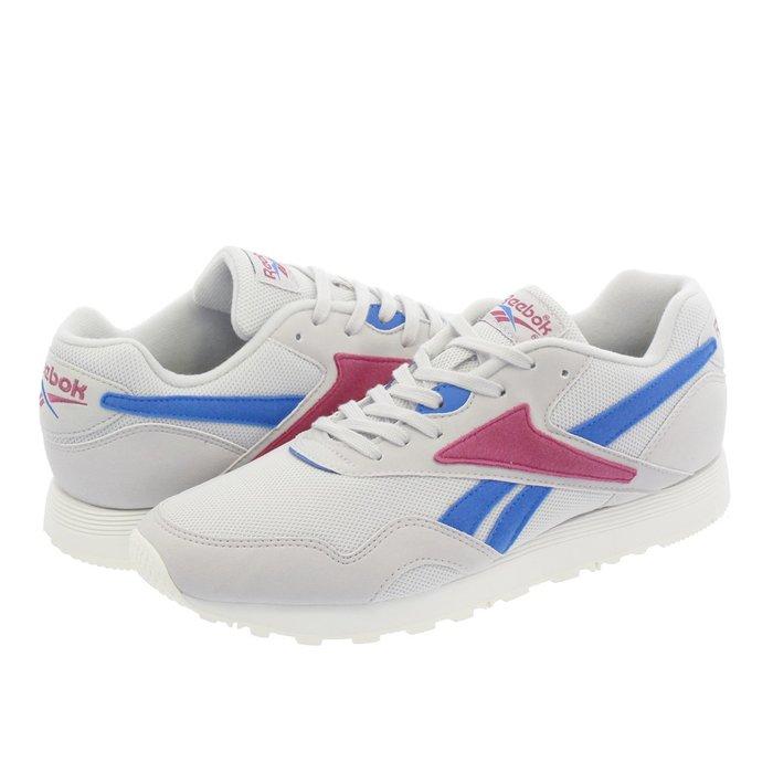 =CodE= REEBOK CLASSIC RAPIDE MU 麂皮休閒鞋(灰藍紅) CN5911 復古 亞莉安娜 女