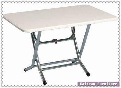 ☆ 凱創家居館 ☆《C001-84-08  電鍍小腳折合餐桌【亮光白】 》不鏽鋼餐桌-不鏽鋼圓桌