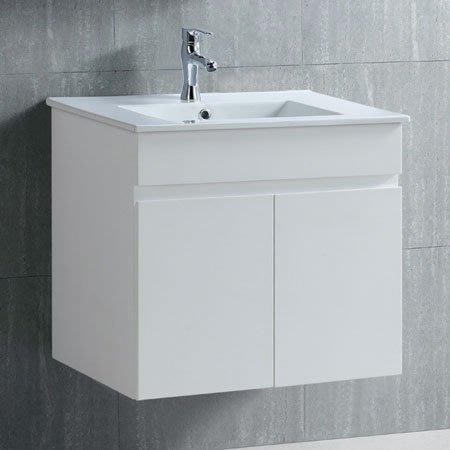 《101衛浴精品》70CM 方型陶瓷抗污面盆浴櫃 全防水發泡板 5層環保亮面鋼琴烤漆【全台大都會免運費 可貨到付款】