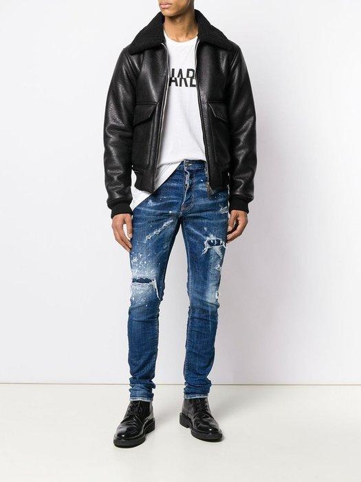 ~The Black Dan Moccani~ [爆款] Dsquared2 Cool Guy 補丁/破壞 小直筒牛仔褲