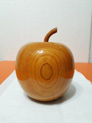 【九龍藝品】精選檜木 ~ 蘋果聚寶盆 ~ 寬約12公分 ( S1 )
