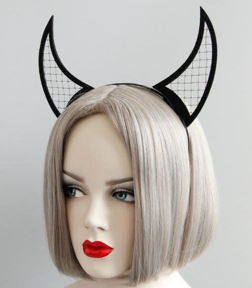 乂世界派對乂萬聖節髮箍/惡魔髮箍/黑魔女髮箍/黑魔女頭飾/惡魔角髮箍/黑色惡魔髮箍