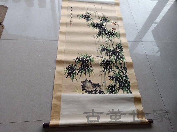 【聚寶閣】古董古玩字畫近代名人董壽平竹節畫一幅 sbh4351