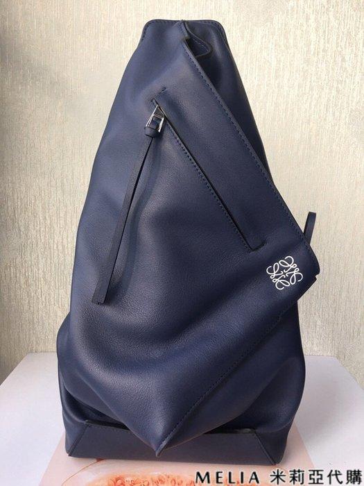 Melia 米莉亞代購 商城特價 數量有限 每日更新 19ss LOEWE ANTON BAG 時尚單肩三角設計 藍色