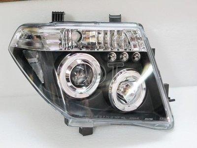 ~~ADT.車燈.車材~~NISSAN FRONTIER  PATHFINDER 05年 LED光圈魚眼黑底大燈一組