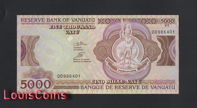 【Louis Coins】B1412-VANUATU-ND (2006-2010)萬那杜(瓦努阿圖)紙幣,5000