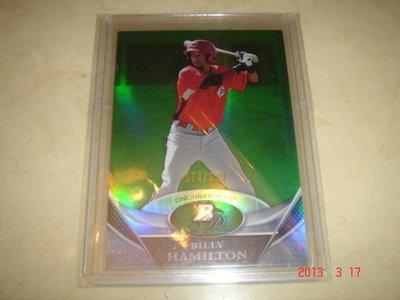 美國職棒 Reds Billy Hamilton  2011 Bowman Platinum Prospects Green Refractor 074/599 #BPP38 球員卡