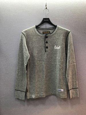 本土潮牌 CABAL 灰色 亨利領 毛衣 M號