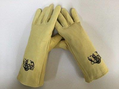 附發票(東北五金)正日本秀吉 小牛皮手套(長)黃色 電焊手套 焊接手套 沙發皮 手感極佳!