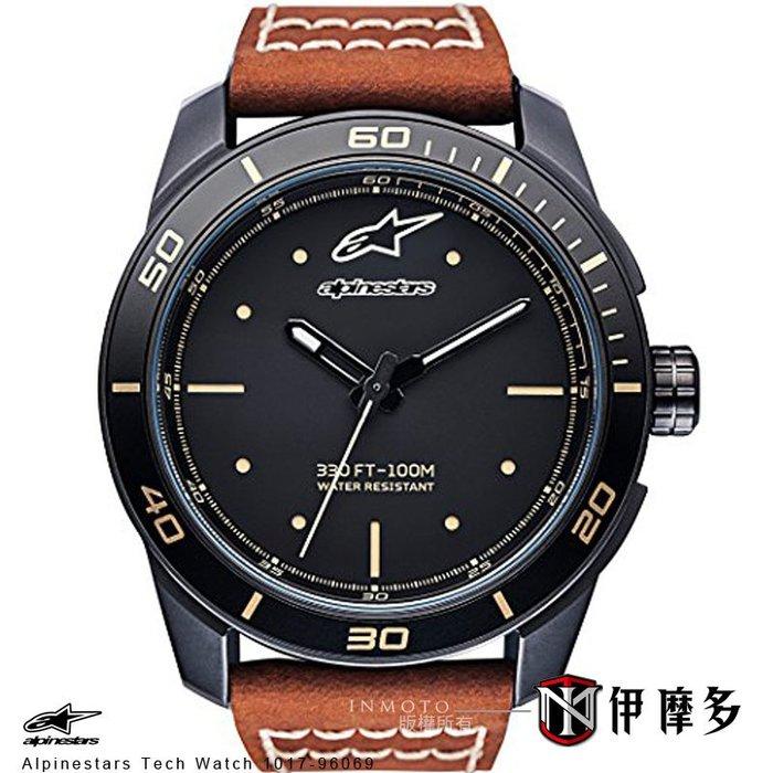 伊摩多※義大利 Alpinestars Tech Watch 手錶 真皮腕錶 運動 奢華時尚 A星 1017-96069