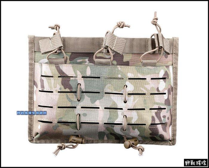 【野戰搖滾-生存遊戲】高品質多用途三聯彈匣袋【MultiCam】多地形迷彩CP迷彩M4 AK 快拔彈匣包彈夾袋雷射切割
