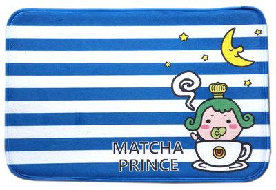 【卡漫迷】 茶茶小王子 腳踏墊 條紋 ㊣版 浴室室內 防滑墊 止滑墊 地墊 吸水墊 Matcha Prince 輕量