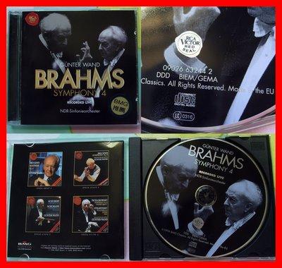 ◎1998-歐洲製造-布拉姆斯.汪德-Johannes Brahms、Symphony No.4,Gunter Wand