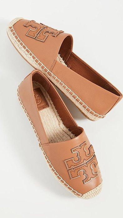 美國代購 TORY BURCH Ines 雙T 牛皮草編鞋 麻編鞋 休閒鞋 懶人鞋 鉛筆鞋