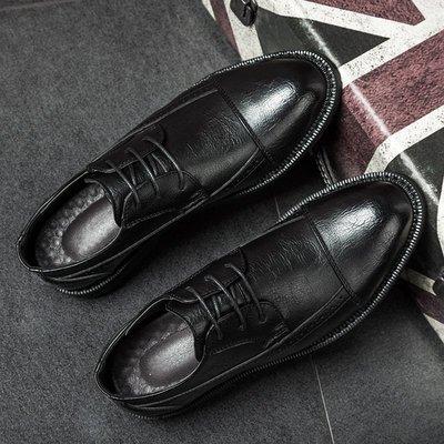【時尚先生男裝】皮鞋男春季韓版商務休閑皮鞋英倫小皮鞋男青年百搭婚禮鞋850-A