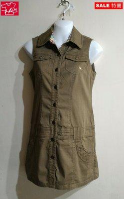 Arnold Palmer 雨傘牌  連身裙 背心 外套-女款-卡其-36號【JK嚴選】LV 鬼怪