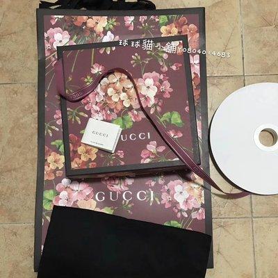 Gucci 限量 限定 花花 紙盒 盒子 紙袋 提袋