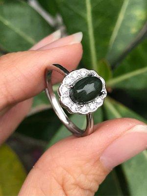 天然綠髮晶戒指 順絲綠髮晶925銀鑲鑽鋯石活圍戒指《舒唯水晶》