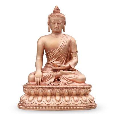 【睿智精品】銅佛像 南無本師釋迦牟尼佛 法像莊嚴 隨身佛 紅銅(GA-4767)