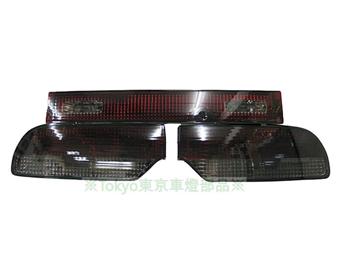 ※Tokyo東京車燈部品※ 日產 SILVIA 180SX S13 S14 S15 紅黑晶鑽尾燈+中飾板 一套3800元