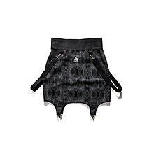 美國東村【SLIGHTLY NUMB】MANTARAY SKIRT 蛇紋 吊帶 短 窄裙