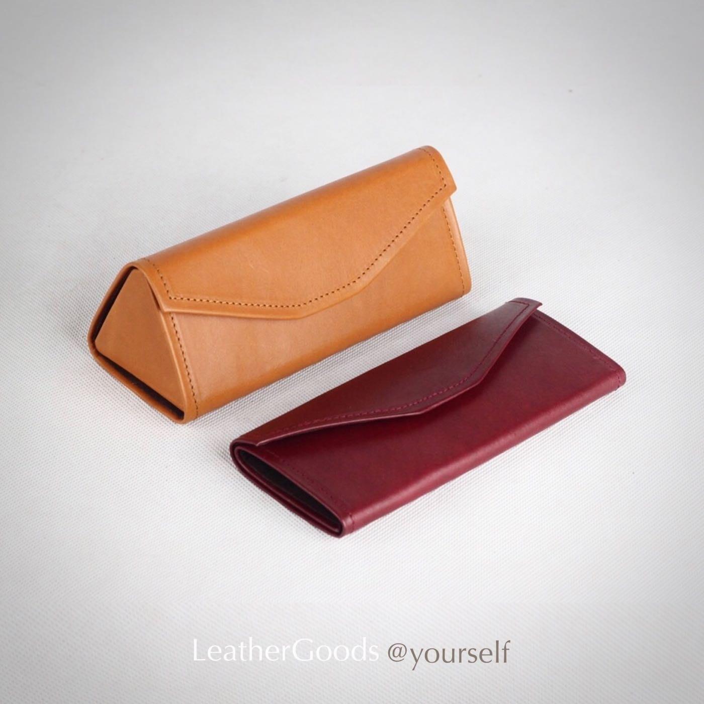 LeatherGoods丨A級頭層植鞣牛皮 折疊眼鏡盒