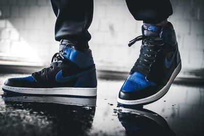 Nike Air Jordan 1 Retro High OG Royal喬丹555088-007黑藍AJ1荔枝皮一代