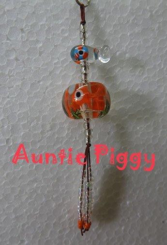 豬豬姨~Auntie Piggy~玻璃金魚吊飾~雙魚吊飾~玻璃雞串掛飾~