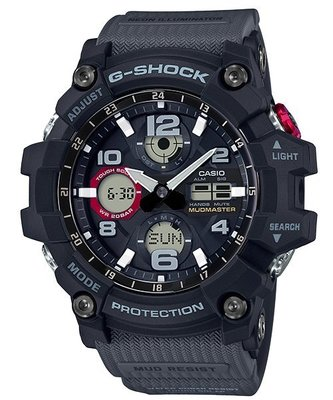 CASIOG-SHOCK 全方位防塵泥雙傳感器休閒運動錶 GSG-100-1A8 GG-1000GB-1A 大地灰
