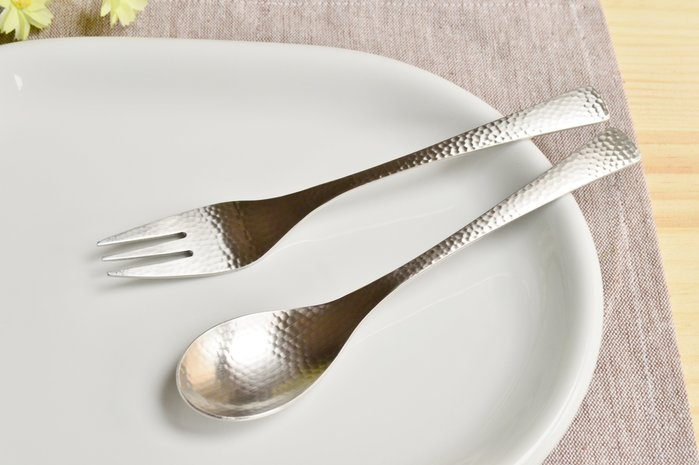 全館八折 滿2仟七折~日本製 和風 槌目 不鏽鋼 18-8 甜點匙 湯匙 湯勺 叉子~匙/叉☆Ling 日本雜鋪