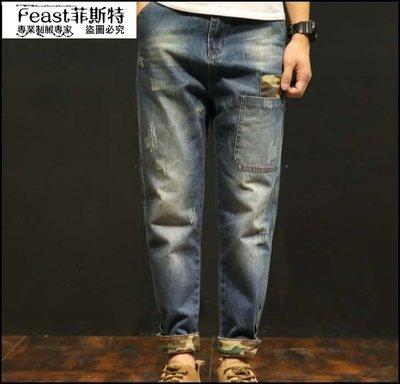 【Feast-菲斯特】-新款男士韓版修身牛仔褲 百搭潮流日系復古直筒休閒褲5151
