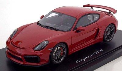 【MASH】現貨特價 GT Spirit 1/18 Porsche Cayman GT4 紅(附壓克力罩)